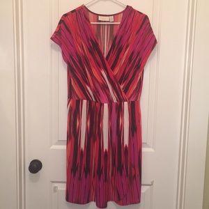 Chico's Colorful Knit Wrap Dress Size 2